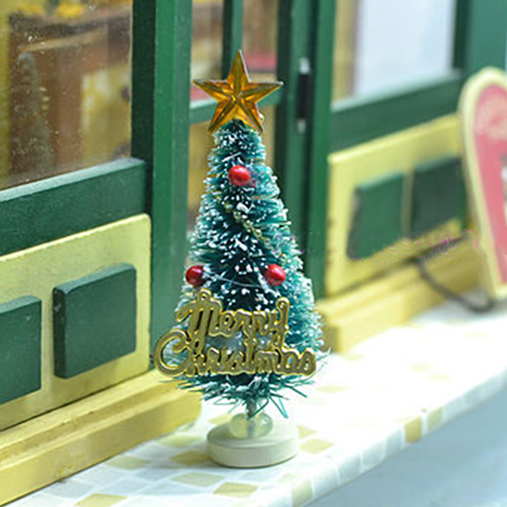 2017 Small Pine Trees Christmas Decoration Mini Snow