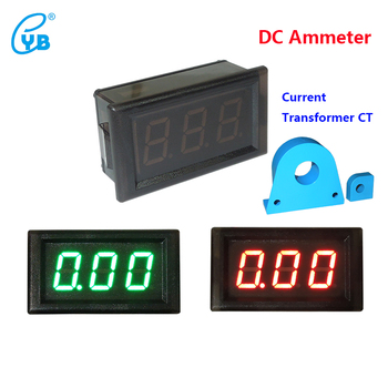 YB28C Hall LED DC Ammeter Digital DC 0-500A Current Meter Tester DC Digital  Ammeter LED Iolation