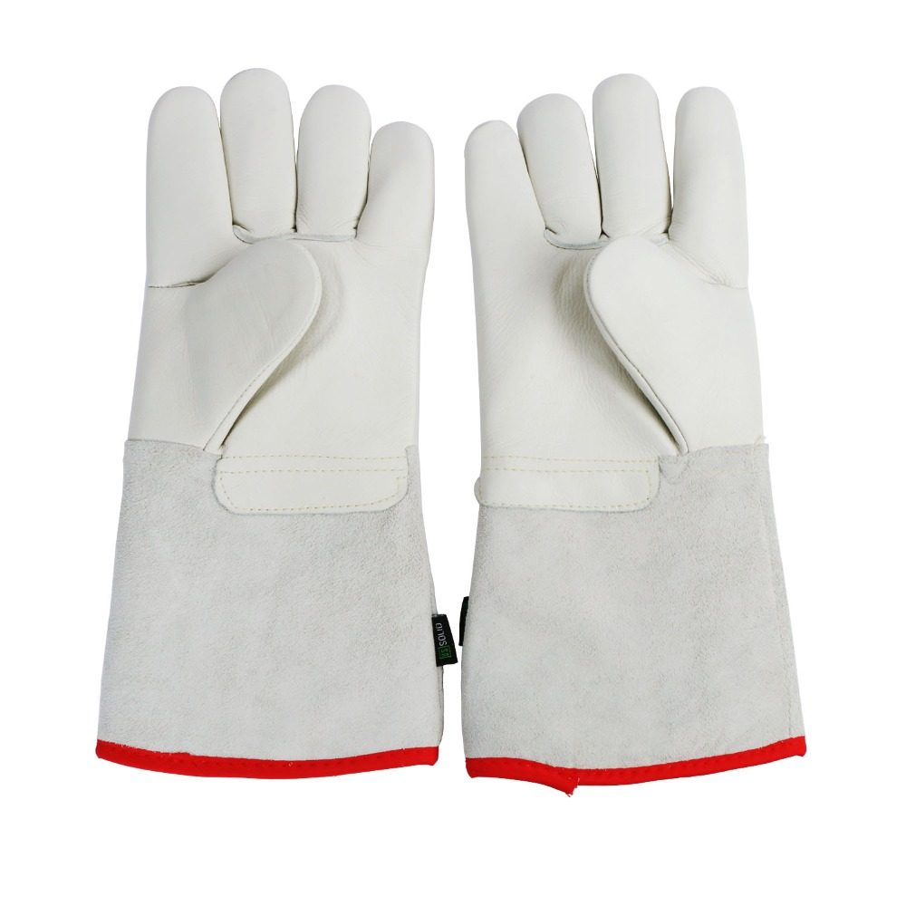 "U.S. Solid 35 cm 13.8"" Protective Gloves for Cryogenic Dewar Liquid Nitrogen Container"