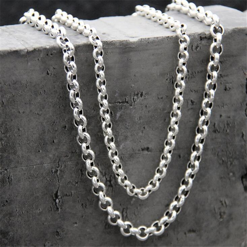Fyla Mode 5mm Customizes S925 Silver O Chain Necklace, Women Chain, Mens Necklace,DIY Thai Silver Jewelry TYC163Fyla Mode 5mm Customizes S925 Silver O Chain Necklace, Women Chain, Mens Necklace,DIY Thai Silver Jewelry TYC163