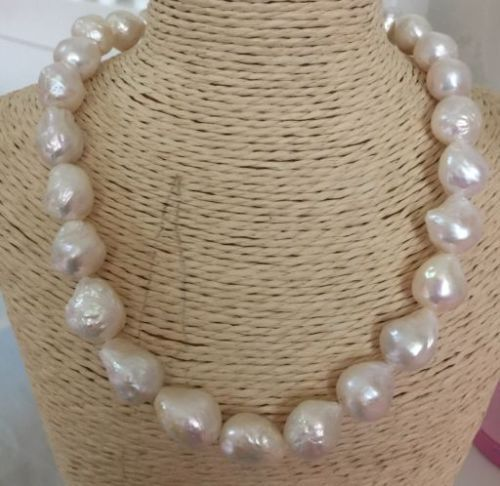 baroque 18 AAA 15-12 MM SOUTH SEA NATURAL White PEARL NECKLACE GOLD CLASP >>>Free shipping free shipping 7 15 mm ptfe magnetic stirrer mixer stir bar with pivot ring white color