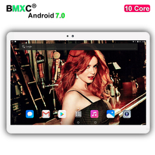 Lo nuevo T700 10 pulgadas tablet pc 1920*1200 IPS pantalla 4G LTE Android 7.0 10 core 4 GB RAM 64 GB/128 GB ROM 8MP Cámara de la PC Del Teléfono