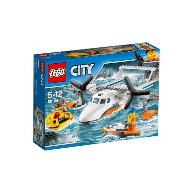 Конструктор LEGO CITY Спасательный самолет береговой охраны 60164-L
