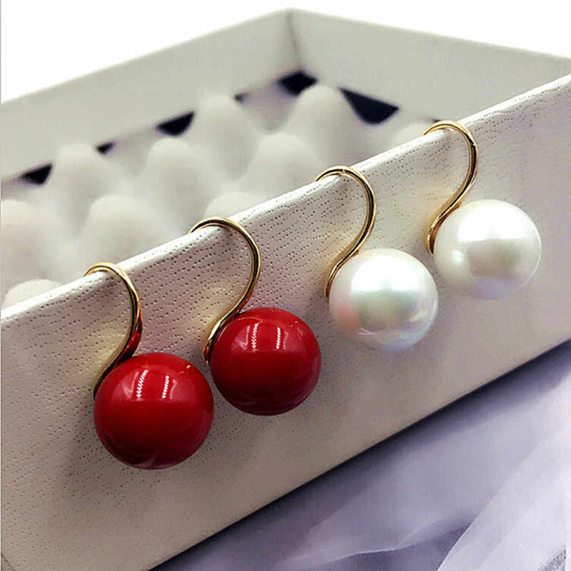 2018 New Arrival  Women Trendy Stud Earrings Sweet Quality Peg To Imitate Pearl Earrings Fashion Wholesale