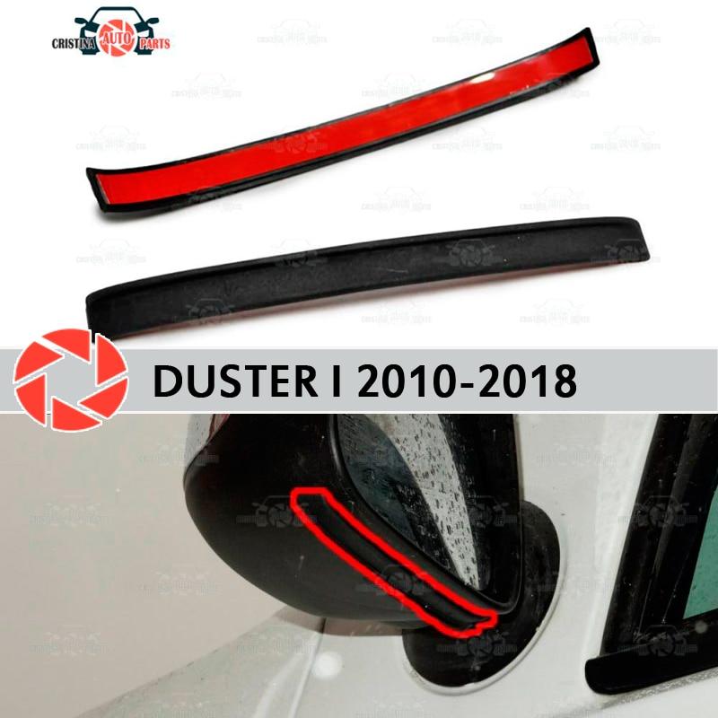 Зеркальный спойлер для Renault Duster 2010 2018, аэродинамическая резиновая отделка, защита от брызг, аксессуары, брызговик, автомобильный Стайлинг