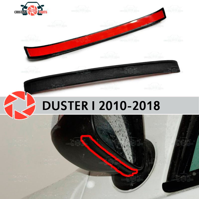 Mirror spoiler for Renault Duster 2010-2018 aerodynamic rubber trim anti-splash guard accessories mud guard car styling