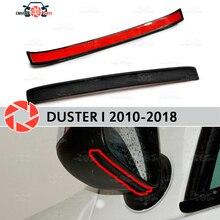 Зеркальный спойлер для Renault Duster 2010-2018 аэродинамическая резиновая отделка анти-всплеск охранные предметы брызговик автомобиля Стайлинг