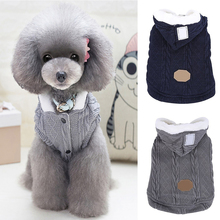 Winter Warm Puppy Knitting Woolen Yarn  Dog Hoodie Sweater Jacket Pet Clothes