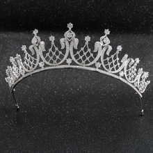 Cristal clássico cz zircônia cúbica casamento nupcial tiara real diadema coroa feminino prom cabelo jóias acessórios ch10252