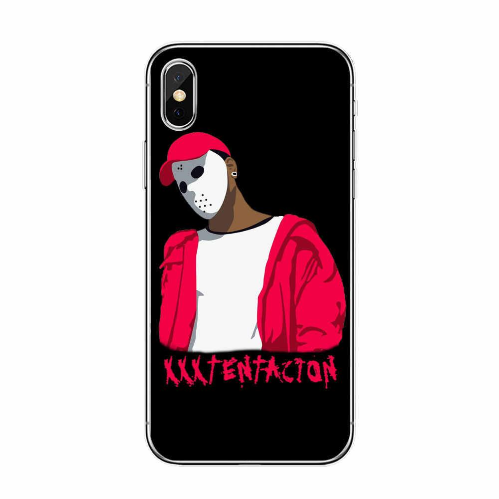 슬픈 소년 xxxtentacion lilpeep rapper iphone 11 pro max 6s 5 8 7 plus x xr xs max 소프트 tpu 실리콘 커버 케이스