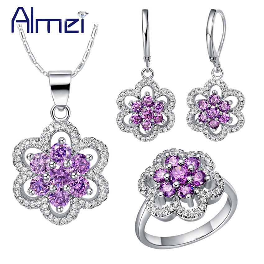 Buy almei jewelry sets ring necklace for Buying jewelry on aliexpress