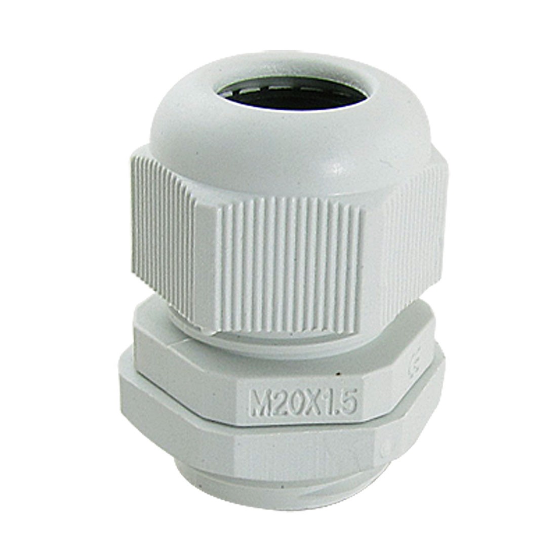 UXCELL 10 Pcs White Plastic Waterproof Cable Glands M20 X 1.5