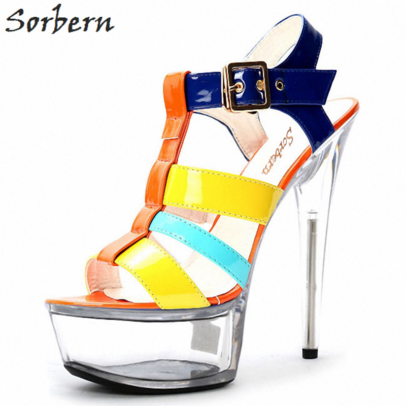 Sorbern 15Cm/17Cm Clear Plastic Sandals Women Shoes Slingbacks Size 11 Women Shoes Summer Girls Sandals 2018 Platform Sandals