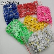 Car Flashing 100Pcs Promotion Led T10 8 smd 1206 8leds 8SMD Car signal LED Light 194 168 192 W5W 3020 12v Auto Wedge Lighting DC