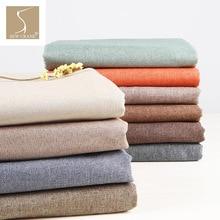 148 см широкая разноцветная льняная смесь бежевая ткань серая ткань для дивана ткань для подушки домашняя декоративная ткань синий коричневый зеленый ткань