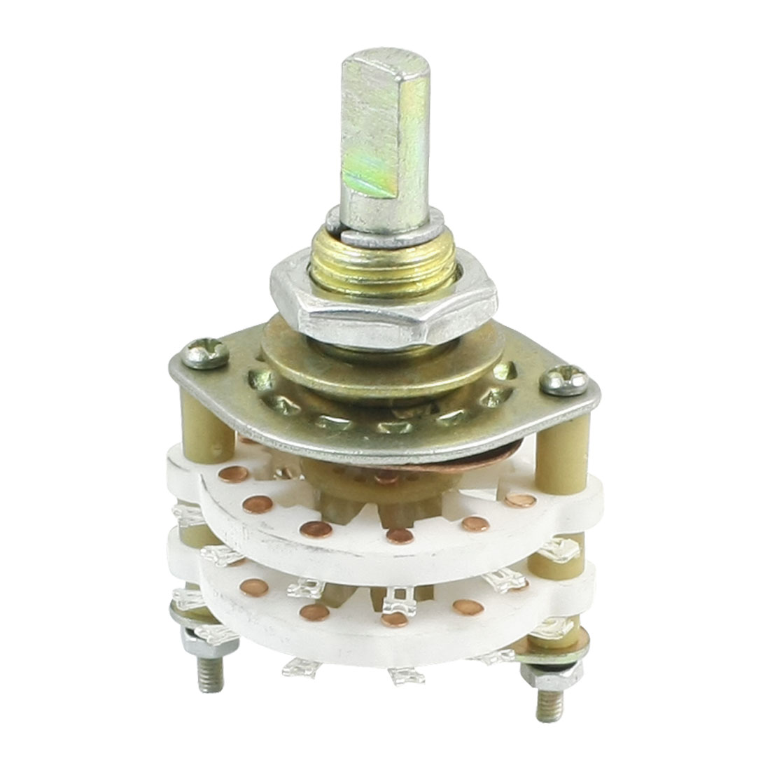 UXCELL Kcx2*6 10Mm Mounting Hole Dia 2P6t 2 Pole 5 Way Two Decks 14Pin Band Channael Rotary Switch Selector 4pcs band channael rotary switch 2p3p 2 pole 3 position single deck