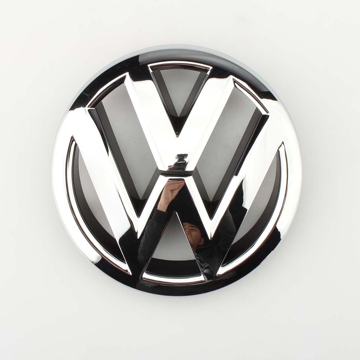 vw emblem chrome oem front grille badge jetta mk6 sedan. Black Bedroom Furniture Sets. Home Design Ideas