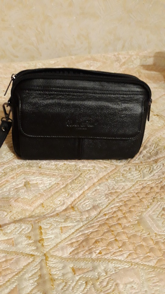 Men Genuine Leather  Business Clutch Bags Vintage Mobile Phone Case Cigarette Purse Pouch Male Handy Bag Card Holder Wallet photo review