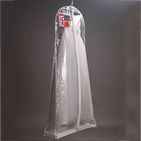 Clear Wedding Dress Cover Storage Bags Dustproof Large Bridal Gown Garment 160 170 180CM