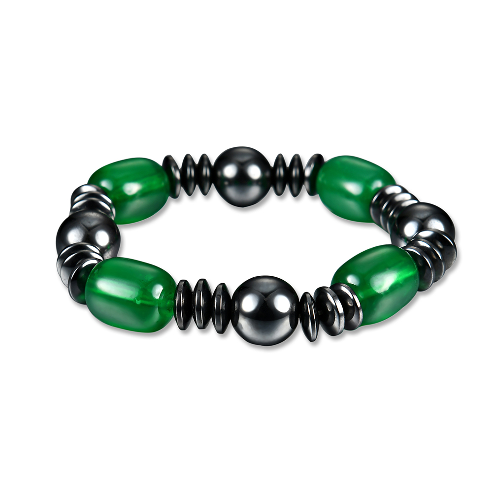 lureme Beautiful Magnetic Hematite Stone Stretch Bracelet for Healing and Energy High Quality Jewelry (bl003138)