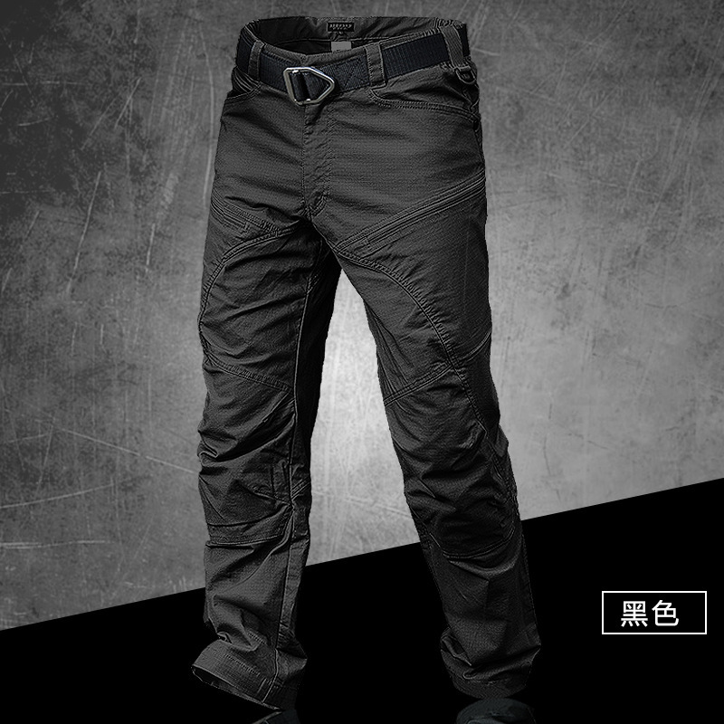 Male Spring Autumn Outdoor Overalls Cargo Trousers Army Fans Climbing Hiking Waterproof Slim Breathable Tactical Training