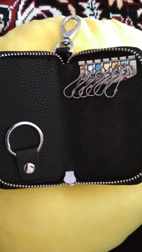APP BLOG Brand Fashion Women Key Holder Car Housekeeper Keys Kits Ring Wallets Organizer Keychain Bags Multifunction Top Leather photo review