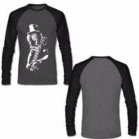 Slash Rock Band T Shirt Gun N Roses Mens Long Sleeve Raglan Shirts Autumn New Fashion