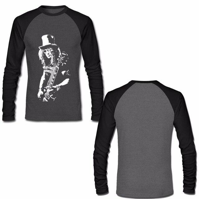 626e213e8189 Slash Rock Band T Shirt Gun N Roses Mens Long Sleeve Raglan Shirts Autumn  New Fashion T-Shirts Euro Size S M L XL XXL XXXL