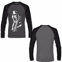 Slash Rock Band T Shirt Gun N Roses Mens Long Sleeve Raglan Shirts Autumn New Fashion