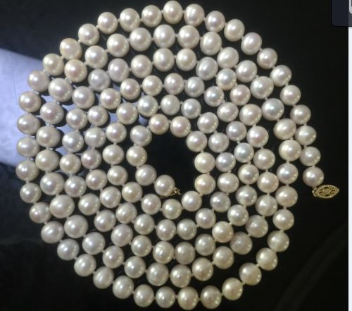 classic AAA 9-10mm south sea white pearl necklace 50 inch >>>girls choker necklace pendant Free shipping