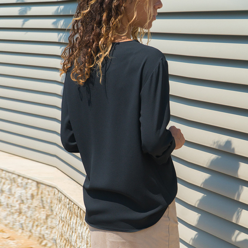 Leisure Blouse 2019 Fashion Long Sleeve Women Blouses and Tops Skew Collar Solid Office Shirt Casual