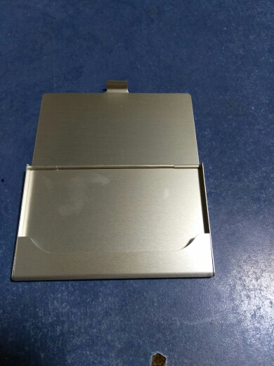 Creative Business Card Case Stainless Steel Aluminum Holder Metal Box Cover Credit Men Business Card Holder Card Metal Wallet photo review