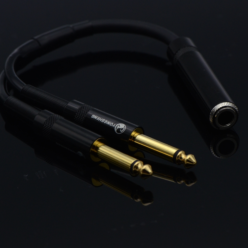 HIFI DIY Audio Cable Female 6.35mm to 2 6.5mm Male Musical Instrument Audio Lossless Conversion Line