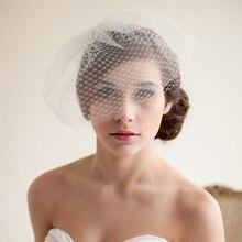 Головной убор невесты чистая вуаль для лица вуаль заколка для волос гребень костюм