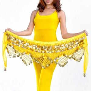 Image 4 - Correas de terciopelo egipcio para danza del vientre para mujer, accesorios de disfraz de danza del vientre clásica, pañuelo para la cadera, Bellydance, 11 colores