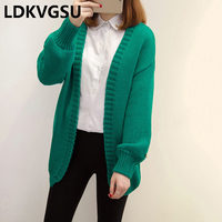 2018 Spring Autumn New Women Long Wild Knitted Cardigan Solid Color Loose Large Size 4XL Sweater Cardigan Jacket Female Is589