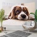 Еще коричневый белый сонный Милый Забавный 3D принт собаки декоративный хиппи богемный настенный гобелен с пейзажем