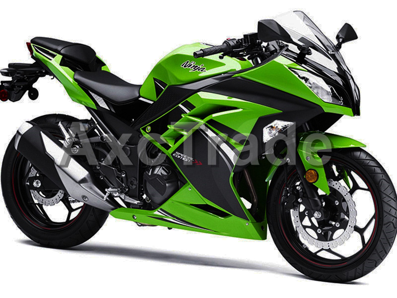 Motorcycle Fairings For Kawasaki Ninja 300 ZX300 EX300 2013 2014 13 14 ABS Plastic Injection Fairing Bodywork Kit Green Color KM