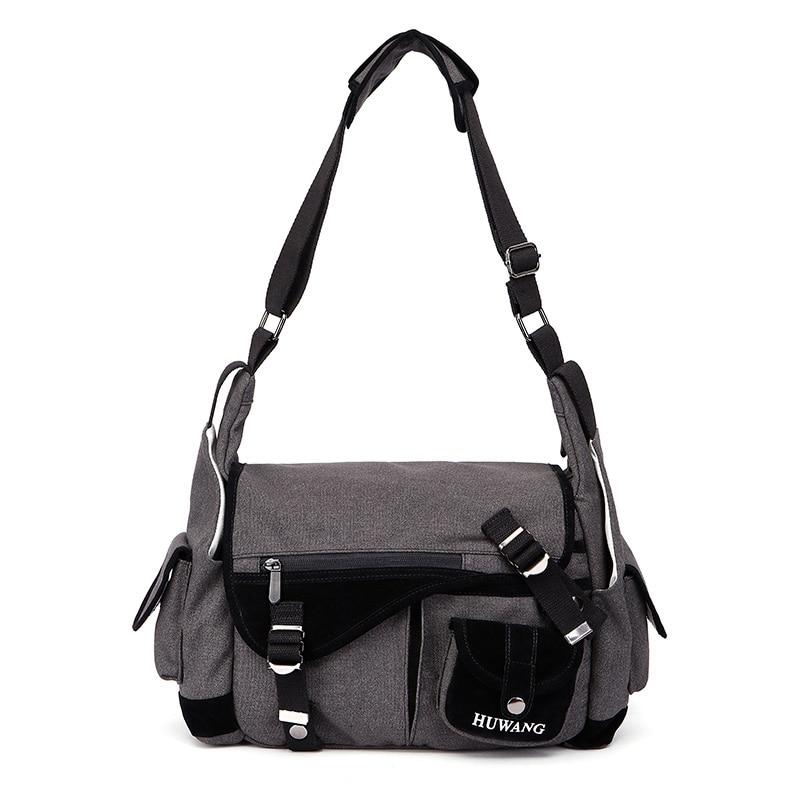 New Arrival Universal Waterproof DSLR Camera Bag Shoulder Case Canvas Nylon Wear-resistant Travel Grey Portable Adjustble