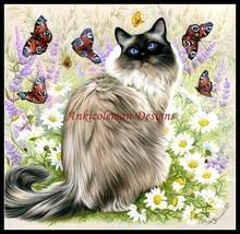 蝶の時間のカウントクロスステッチキット DIY ハンドメイド刺繍刺繍 14 ct クロスステッチセット DMC 色