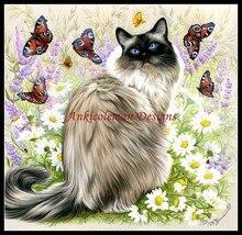 UN Tempo di Farfalle Contati Punto Croce Kit FAI DA TE Fatti A Mano Ricamo Per Il Ricamo 14 ct Set di Punto Croce DMC Colore