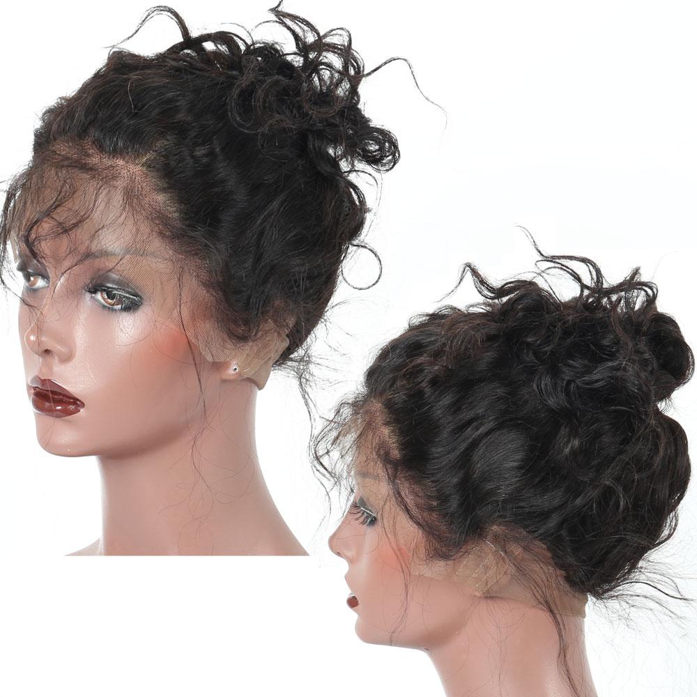 Pre Plucked 360 레이스 정면 폐쇄 아기 머리카락과 자연 - 인간의 머리카락 (검은 색) - 사진 3