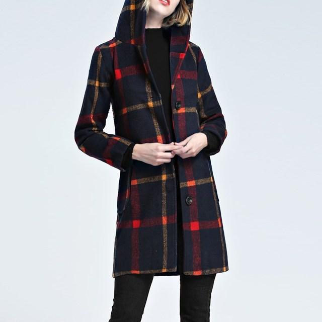 6b53c0c7593c Manteau femme laine ecossais   Espaceflirey