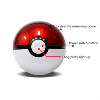 12000mAh powerbank 5V/2.1A Dual USB Output Pokemons Go Pokeball Charge Portable External Power Bank for iphone11 pro max S10 S9