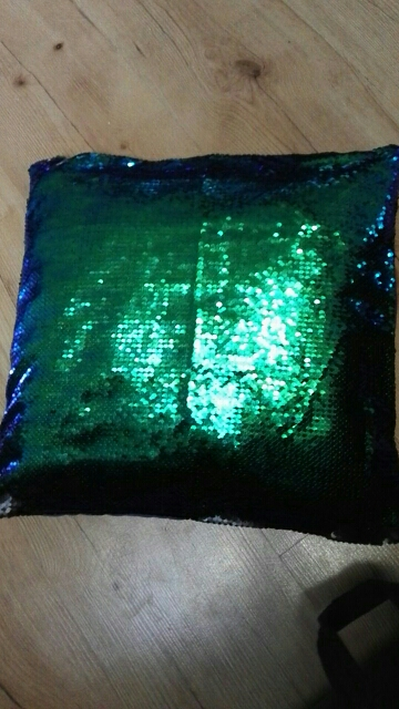 Magical Mermaid Scales Sequins Pillow Covers photo review