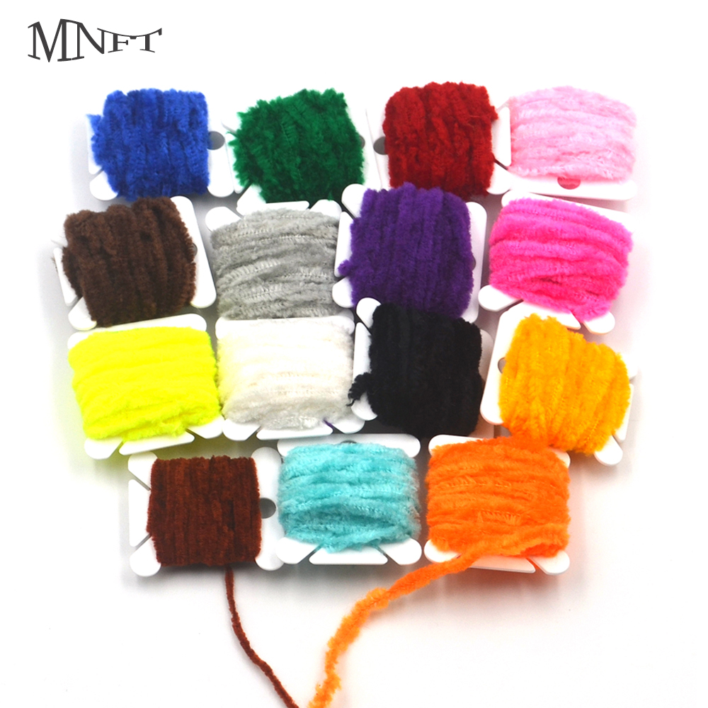 Fly Tying Materials Assorted Rayon Chenille Yarn for Fly //Tying Flies Black