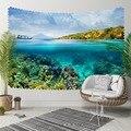 Sonst Blau Sky Wasser Unter Meer Grün Floral 3D Druck Dekorative Hippi Böhmischen Wand Hängen Landschaft Wandteppich Kunst-in Dekorative Wandteppiche aus Heim und Garten bei