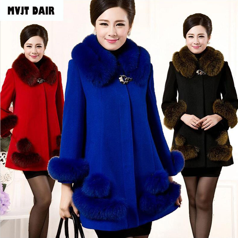 2018 new fashion women s woolen coat high end elegant long slim women s winter coat