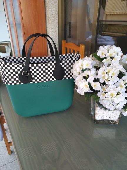 TANQU Fabric Mini Floral Fabric Trim cotton fabric Decoration for Mini Obag Handbag O Bag Mini Body for summer autumn photo review