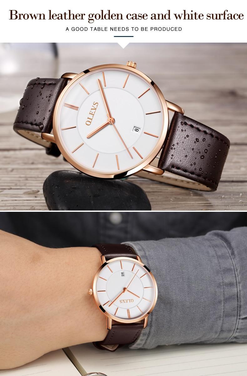 UTB88yLsXv2JXKJkSanrq6y3lVXax 60% OFF OLEVS Men Ultra thin Watches - Top Brand Luxury Quartz Watch Men's [ New ]